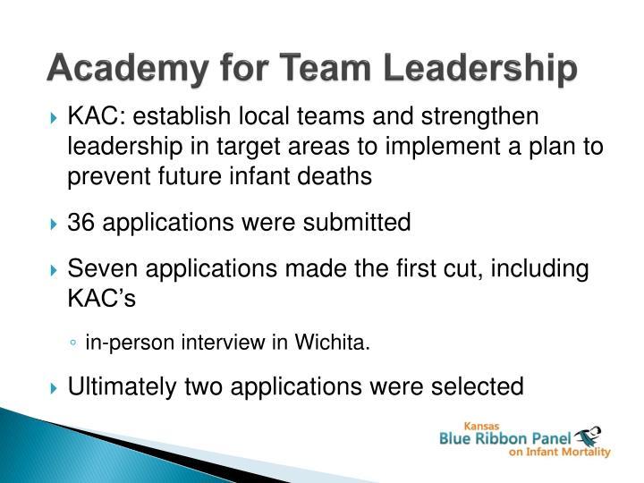 academy for team leadership n.