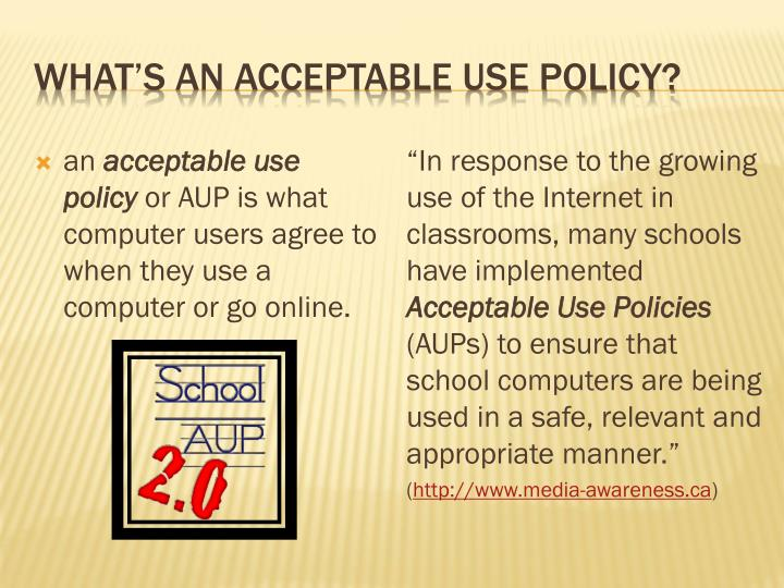 What's an acceptable use policy?