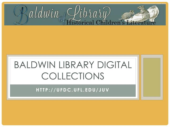 baldwin library digital collections n.