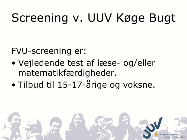 screening v uuv k ge bugt n.