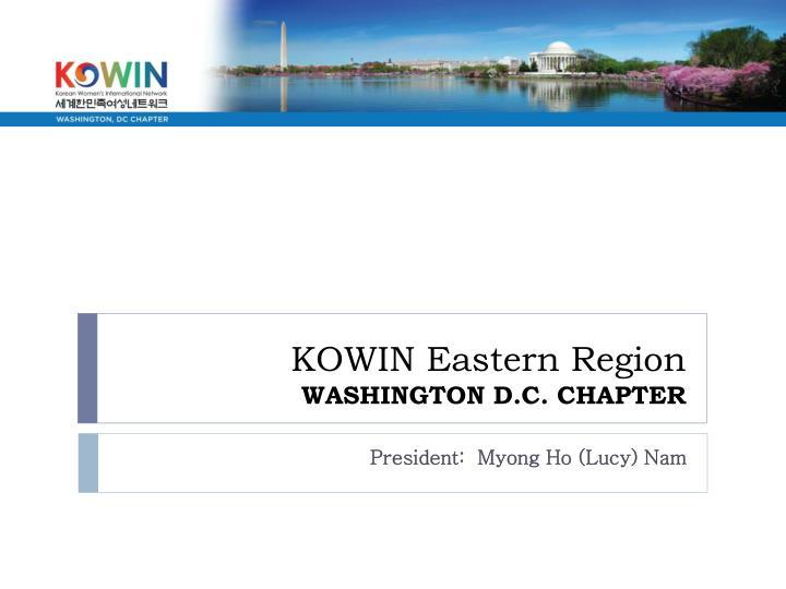 kowin eastern region washington d c chapter n.