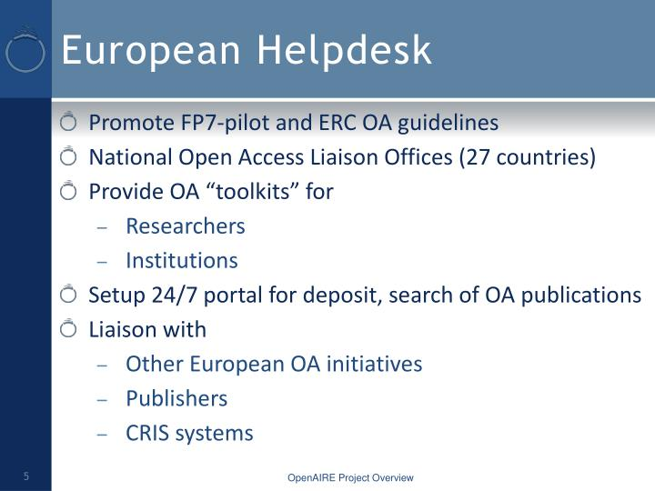 European Helpdesk
