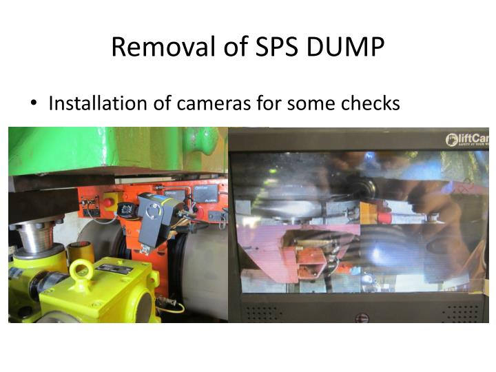Removal of sps dump1