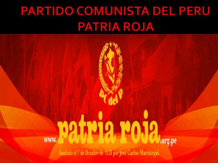 partido comunista del peru patria roja n.