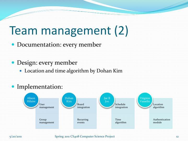 Team management (2)