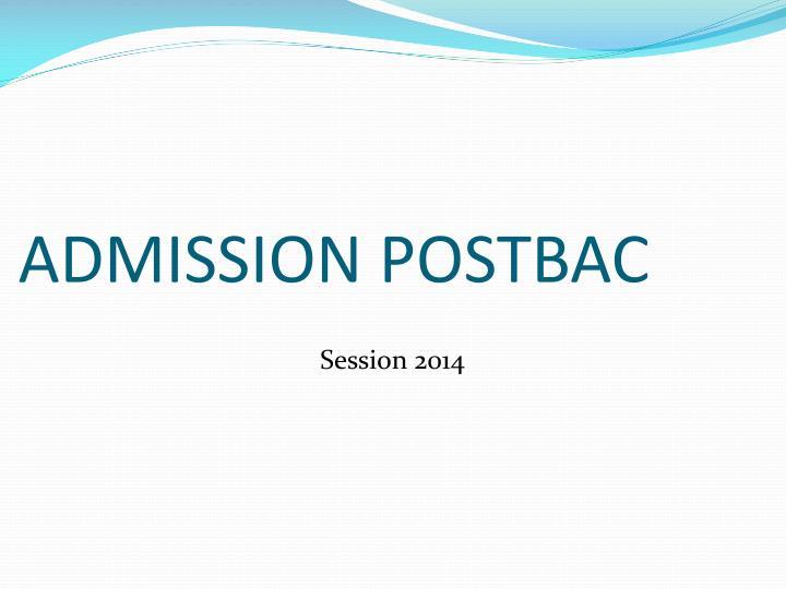 Admission postbac
