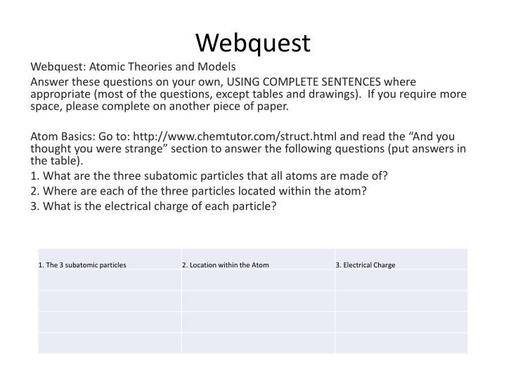 webquest n.