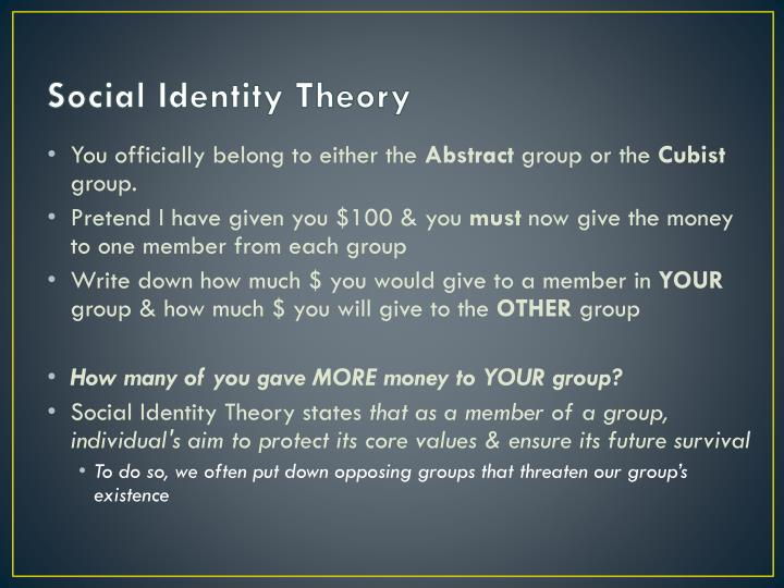 rediscovering social group search identity The first one is social identity theory where the founders see the group membership as the driving force for identity formation the next theory is identity theory, in which the roles that are assigned to individuals are deemed as the major source for energy to identity formation.