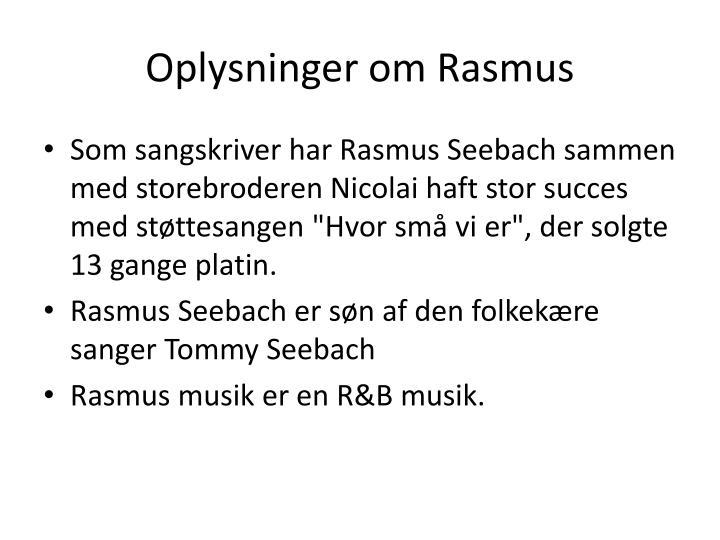 Oplysninger om Rasmus