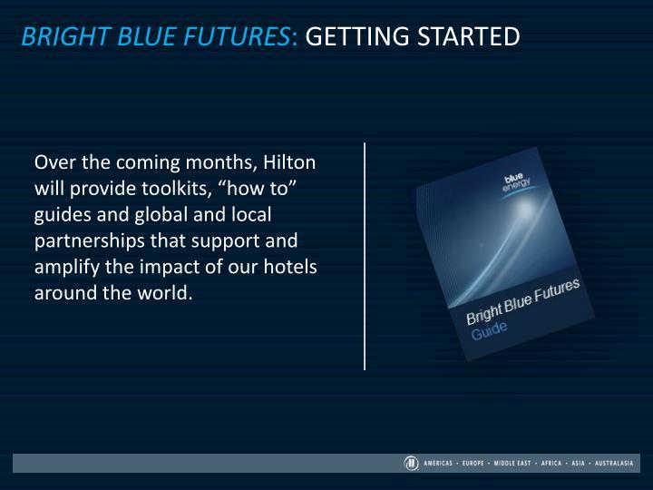 Bright blue futures