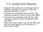 7 5 central limit theorem