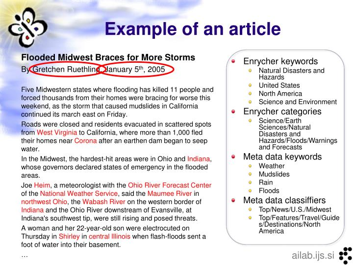 Example of an article