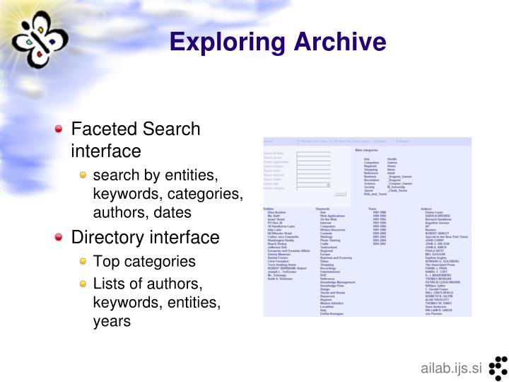 Exploring Archive