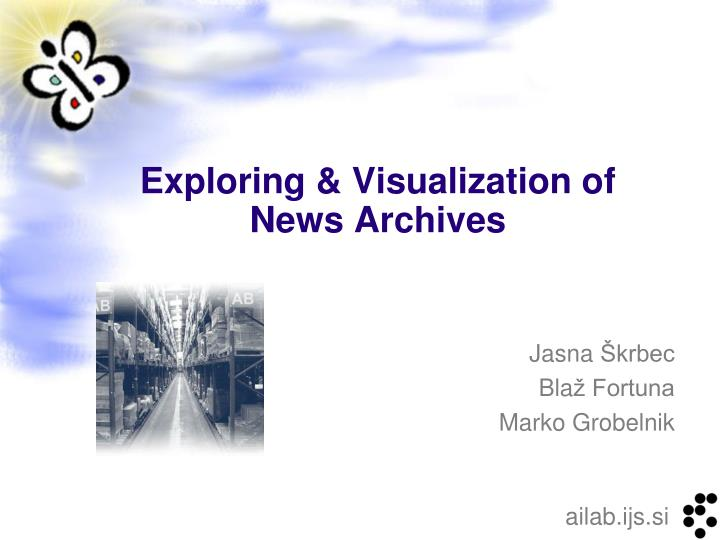 Exploring visualization of news archives
