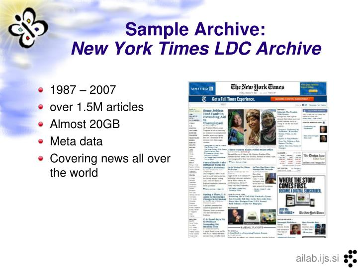Sample archive new york times ldc archive