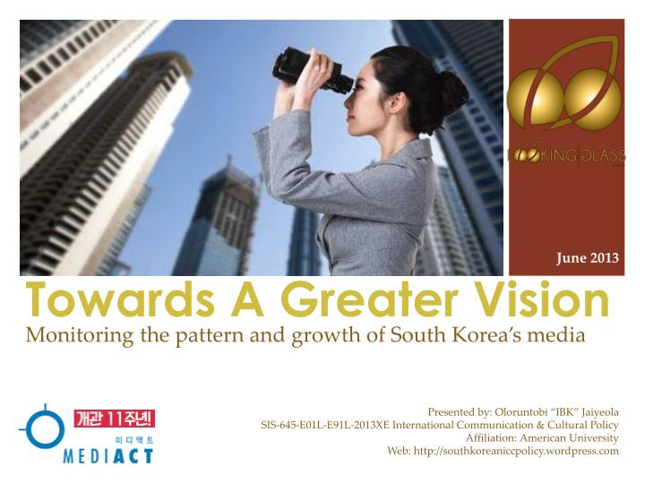 towards a greater vision n.