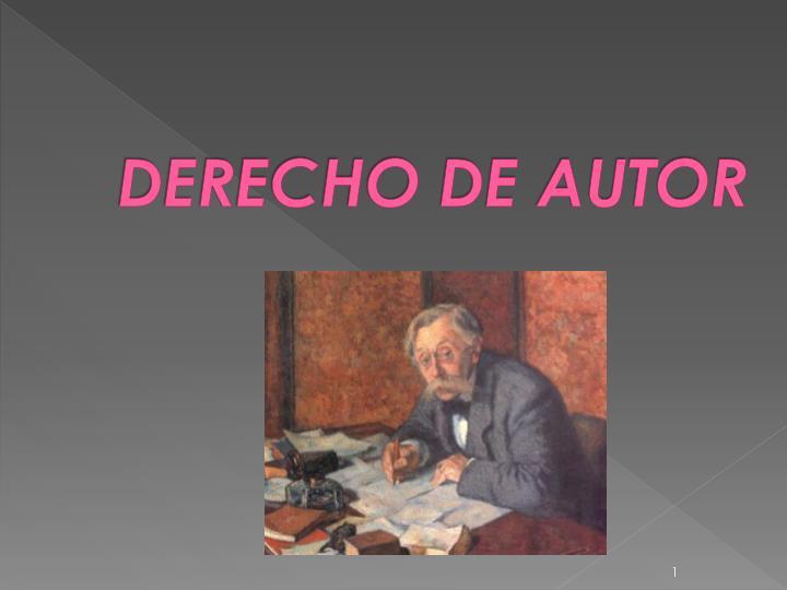 derecho de autor n.