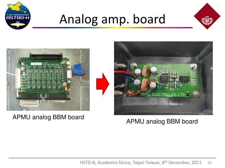 Analog amp. board