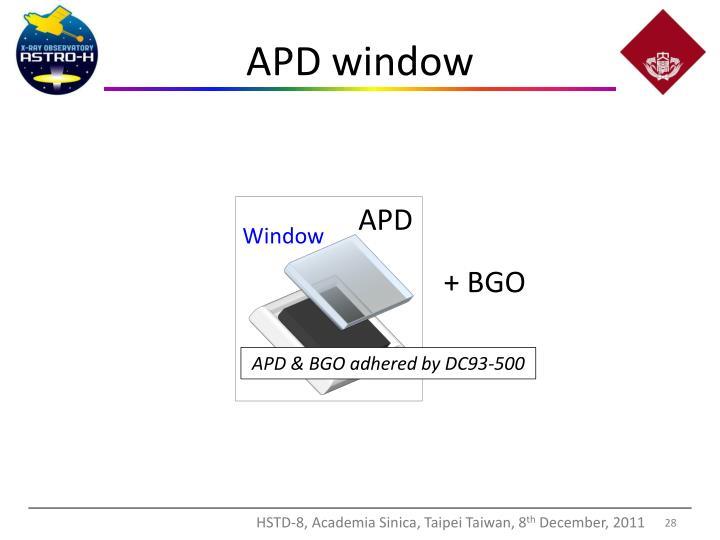 APD window