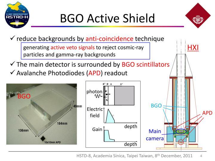 BGO Active Shield