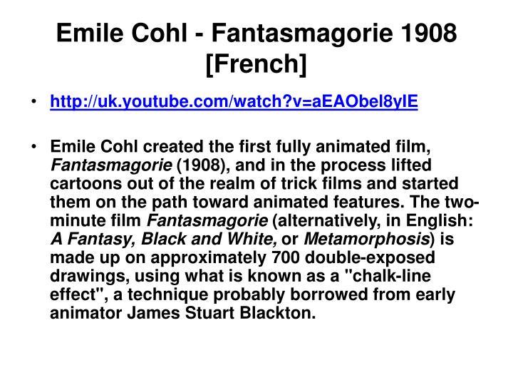 Emile Cohl - Fantasmagorie 1908 [French]