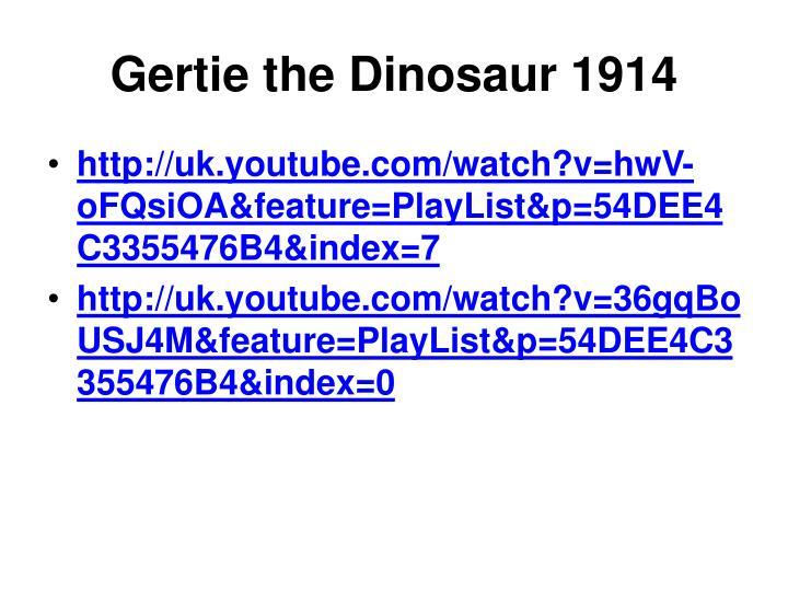 Gertie the Dinosaur 1914