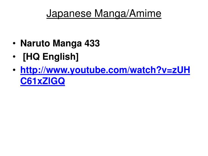 Japanese Manga/Amime