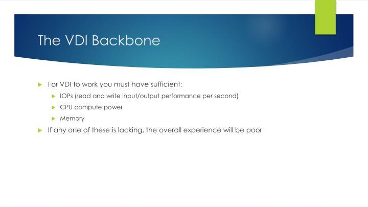 The VDI Backbone