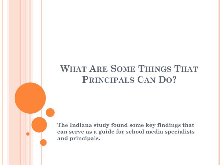 What Are Some Things That Principals Can Do?