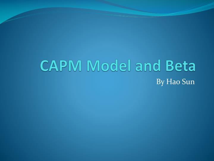 Capm model and beta