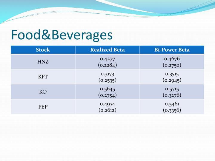 Food&Beverages