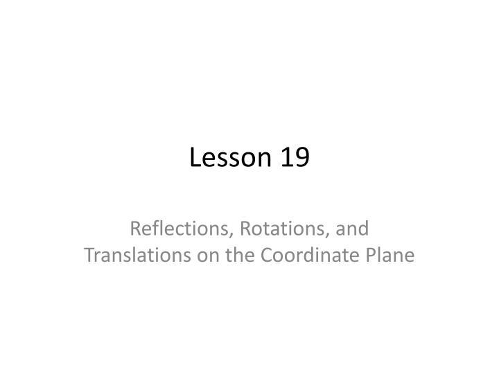 lesson 19 n.