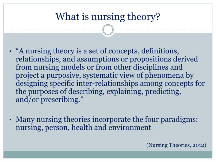 four key concepts of nursing theory