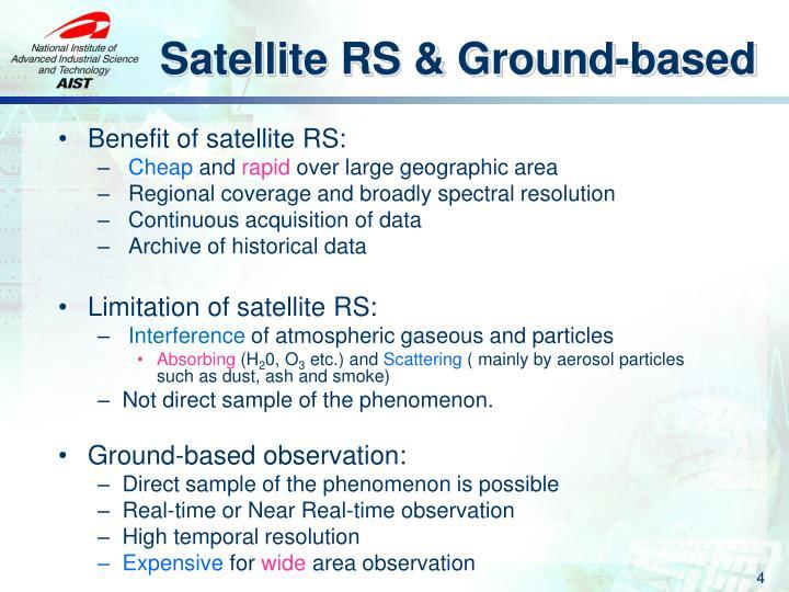 Satellite RS & Ground-based