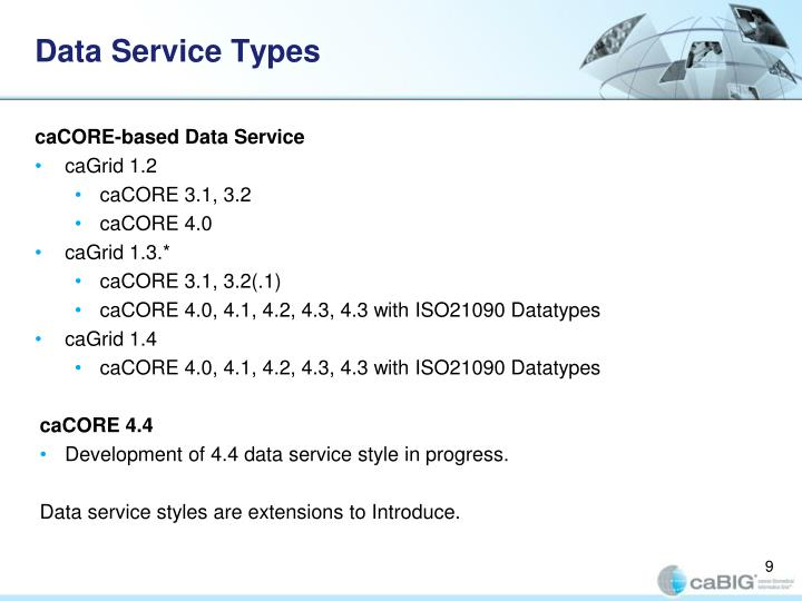 Data Service Types