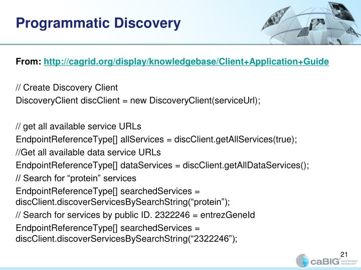 Programmatic Discovery