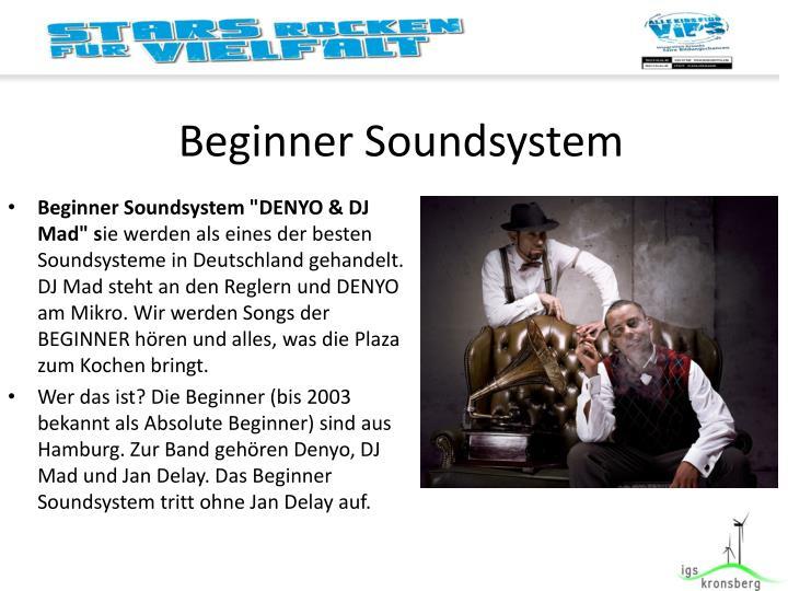 Beginner Soundsystem