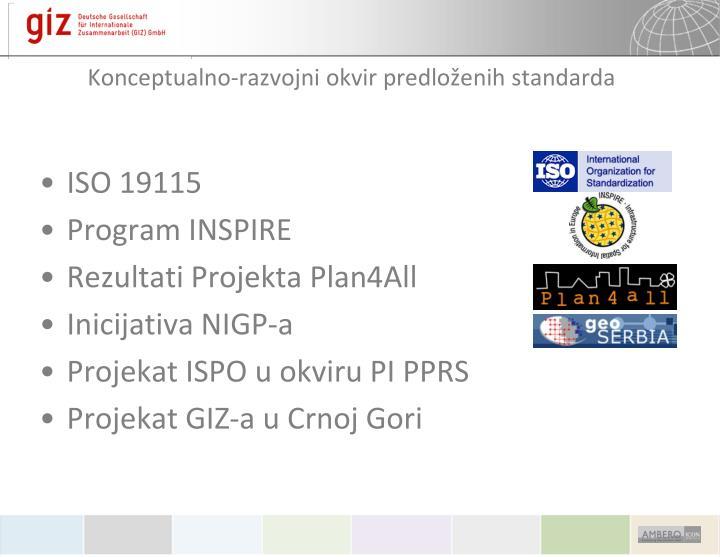 Konceptualno-razvojni okvir predloženih standarda