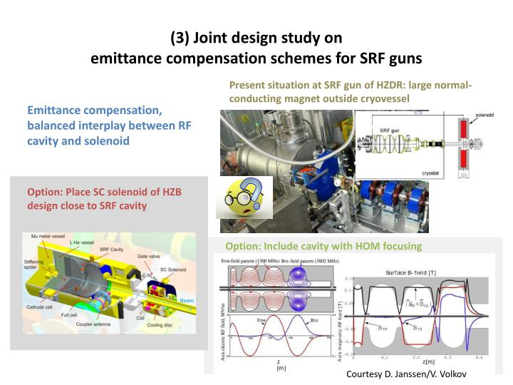 (3) Joint design study on