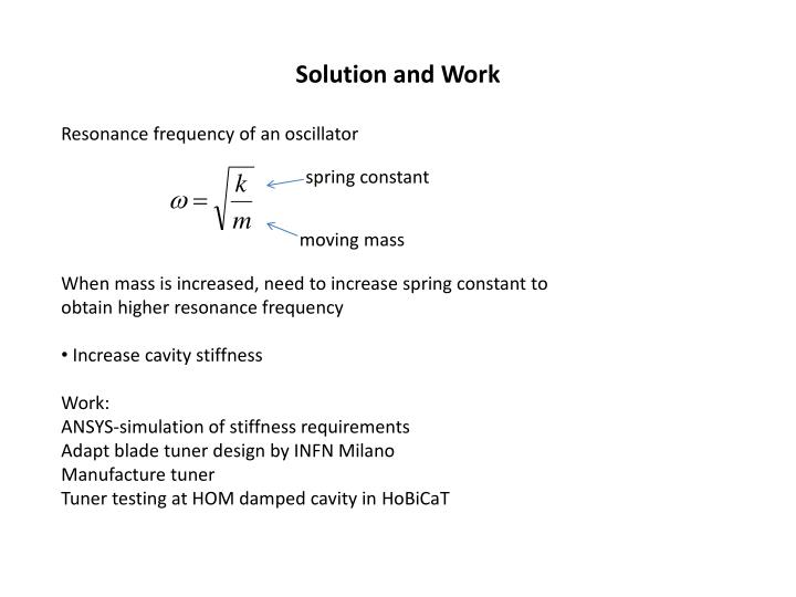 Solution and Work