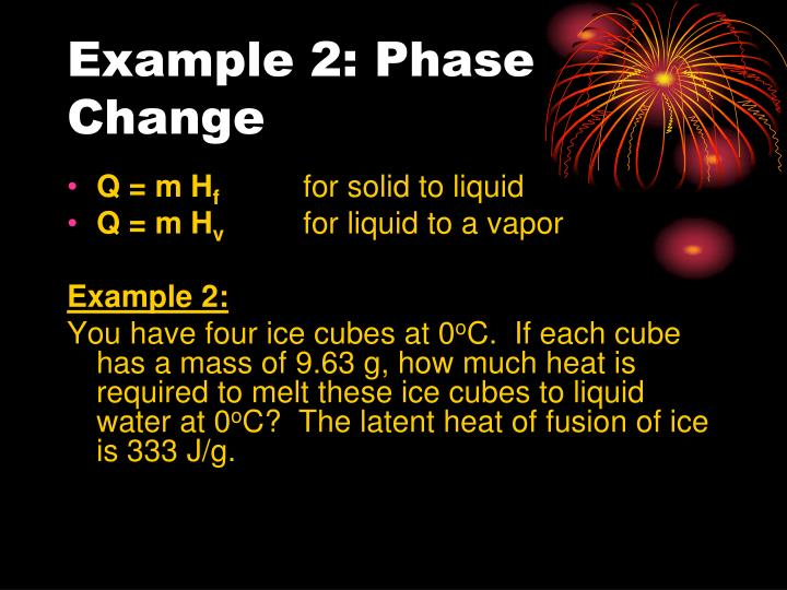 Example 2: Phase Change