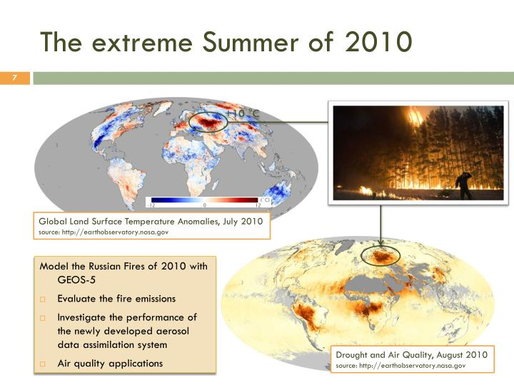 The extreme Summer of 2010