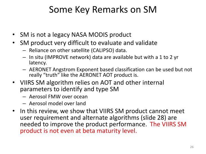 Some Key Remarks on SM