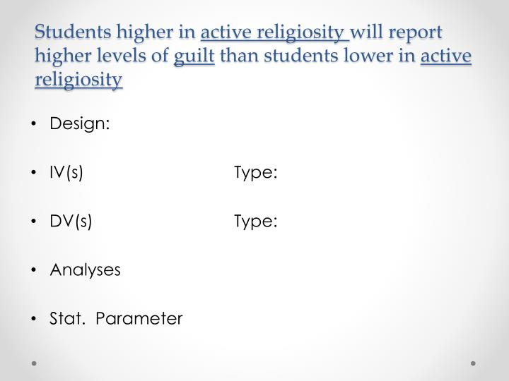 Students higher in
