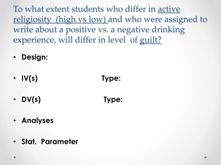 To what extent students who differ in