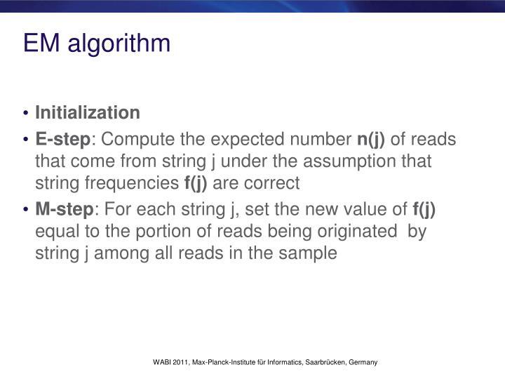 EM algorithm