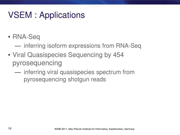 VSEM : Applications