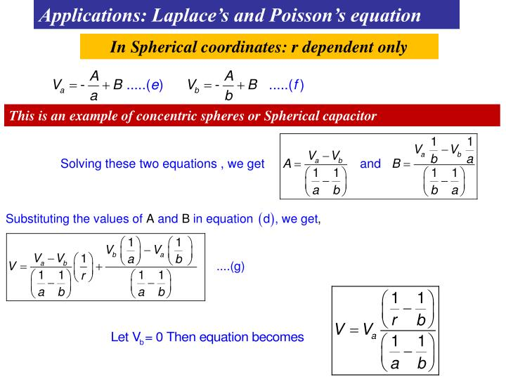 Applications: Laplace's and Poisson's equation