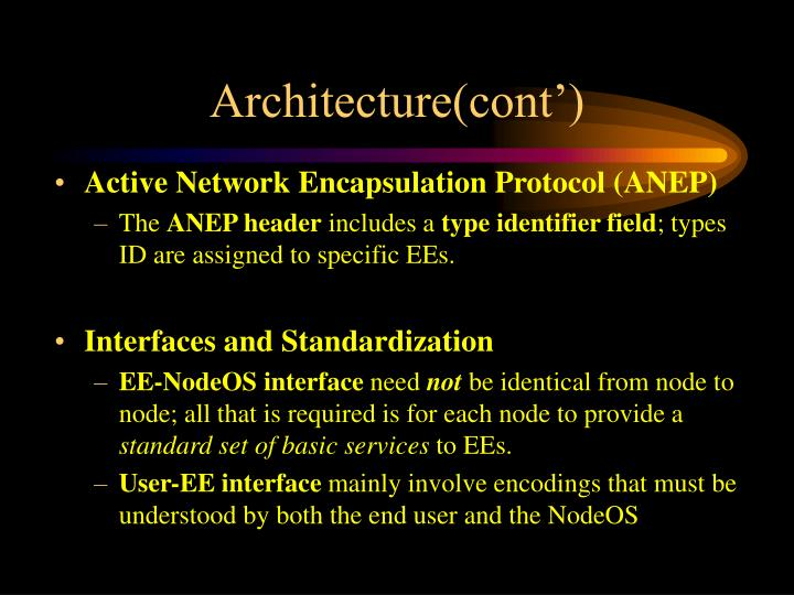 Architecture(cont')