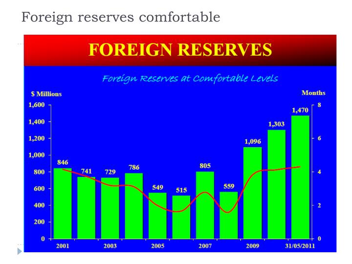 Foreign reserves comfortable